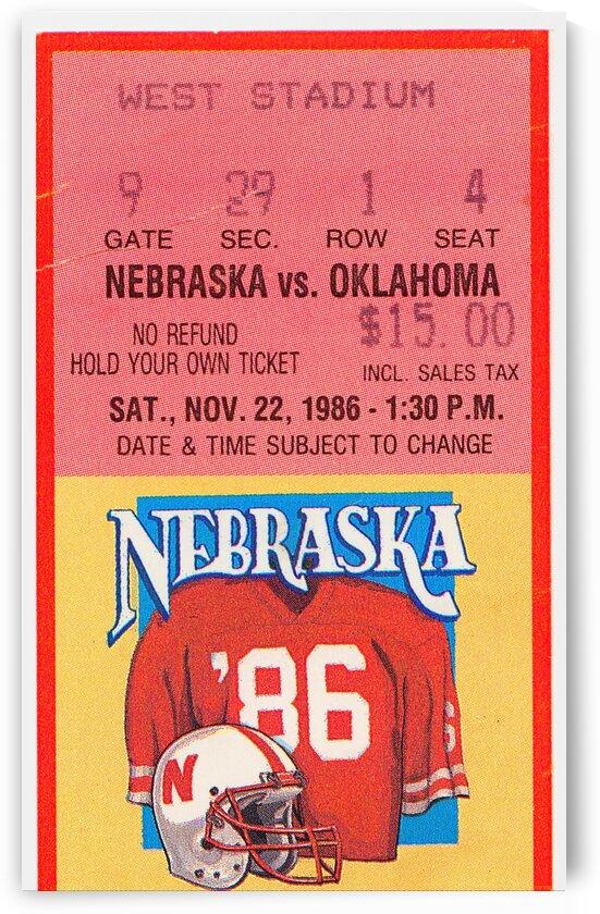 1986 Oklahoma vs. Nebraska by Row One Brand