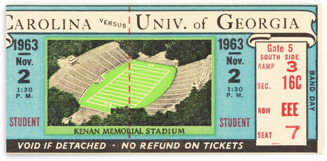 1963 North Carolina vs. Georgia by Row One Brand