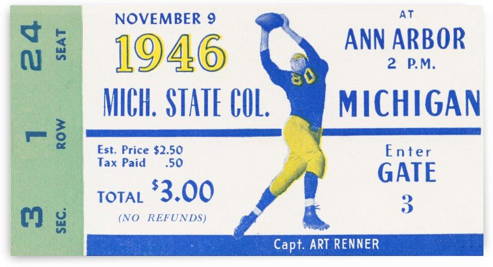 1946 Michigan vs. Michigan State by Row One Brand