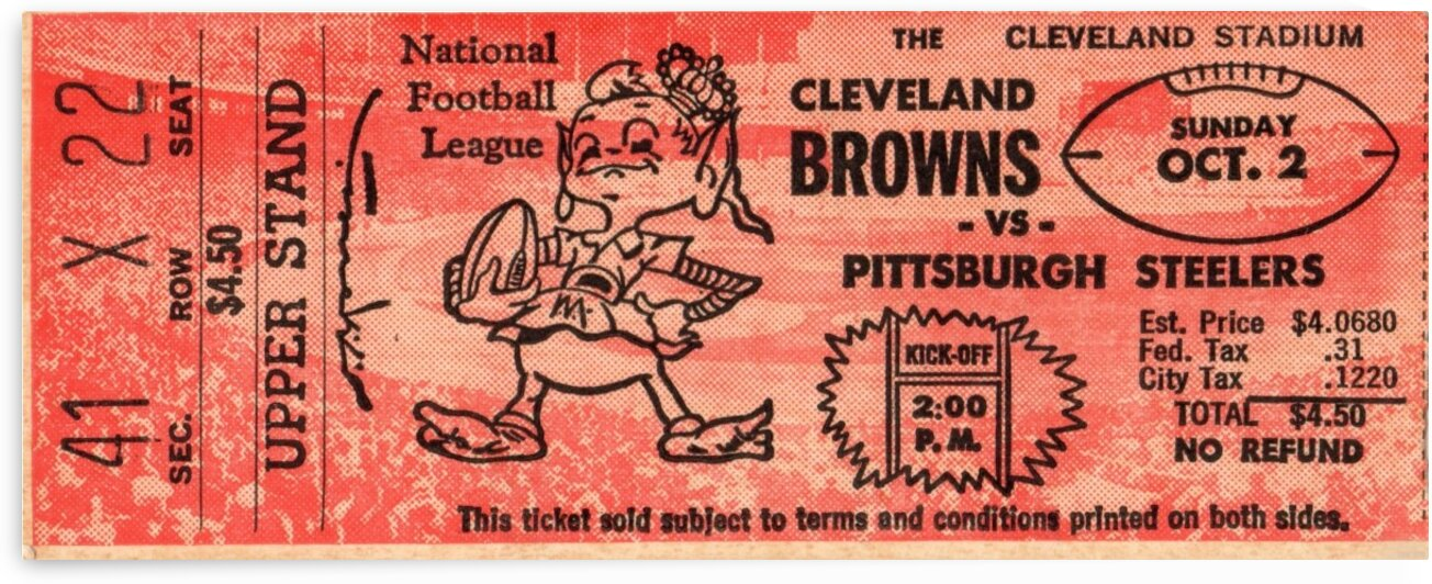 1960 Cleveland Browns vs. Steelers by Row One Brand