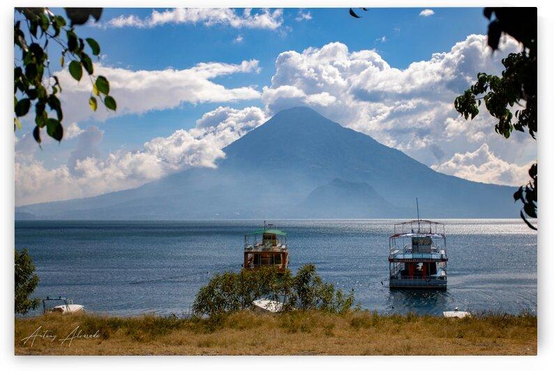 Vista al Lago Panajachel by Antony Alvarado