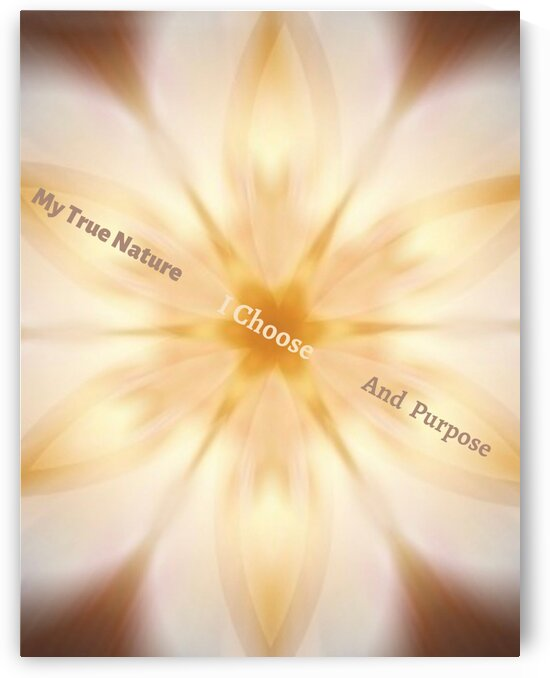 I Choose To Live My True Nature And Purpose by Jenn Rosner