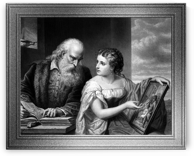 Philosophy and Christian Art by Engraver W. Ridgway Classical Art Old Masters Reproduction by xzendor7