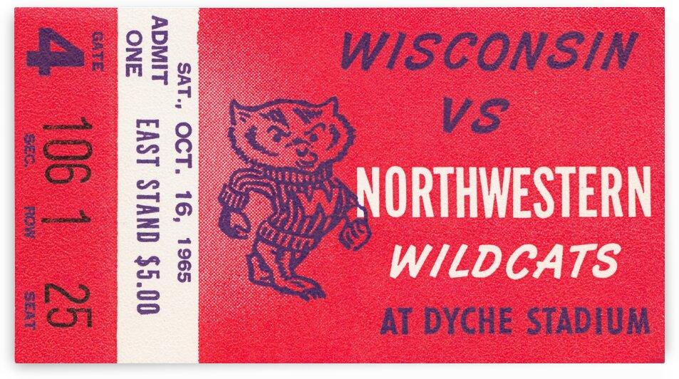 1965 Northwestern vs. Wisconsin by Row One Brand