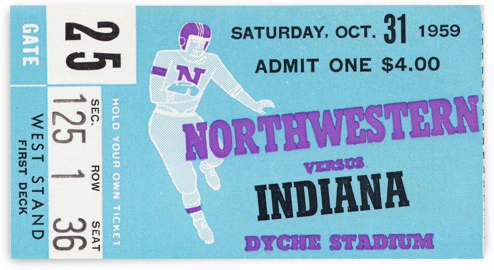 1959 Northwestern vs. Indiana by Row One Brand