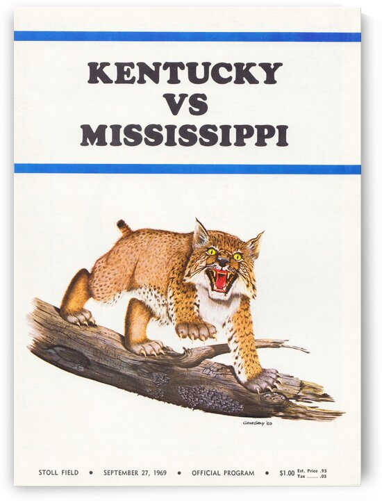 1969 Kentucky vs. Mississippi by Row One Brand