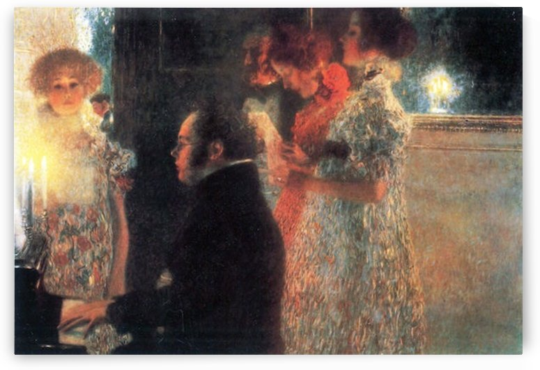 Schubert at the piano by Klimt by Klimt