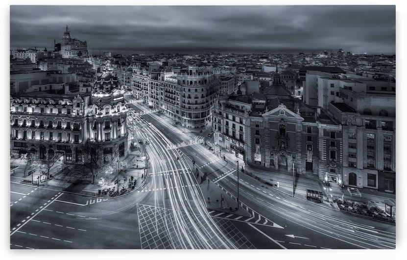 Madrid City Lights by 1x