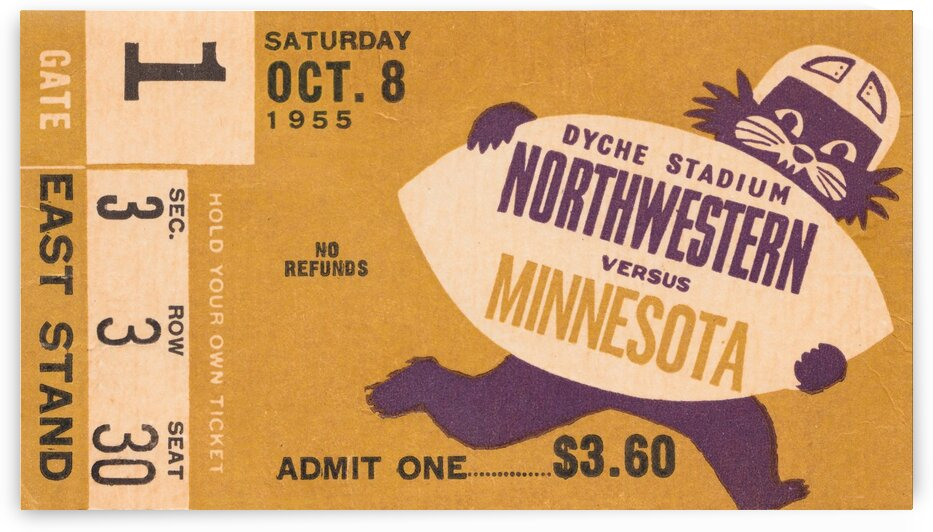 1955 Northwestern vs. Minnesota by Row One Brand