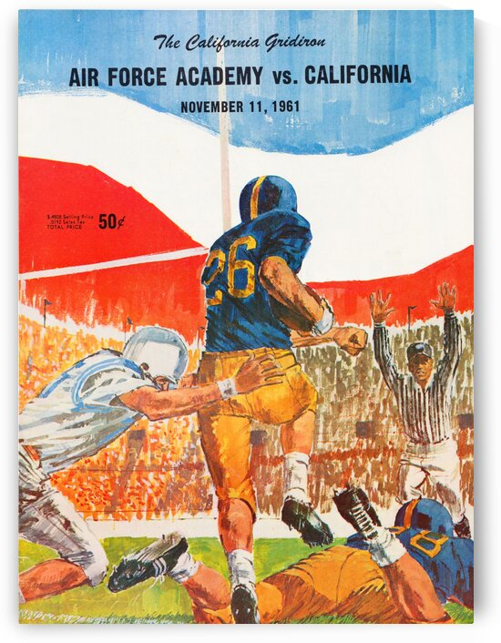 1961 Air Force vs. California by Row One Brand