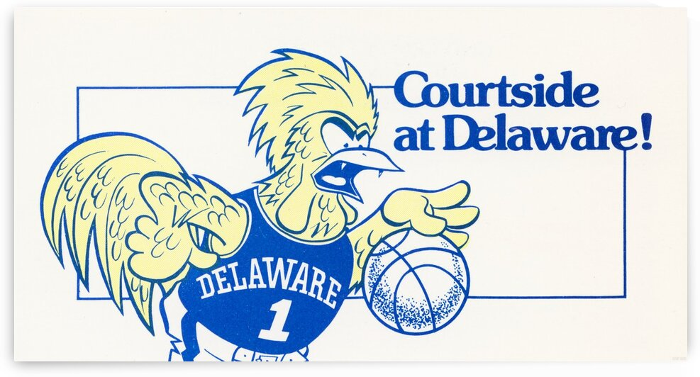 1982 Delaware Basketball Art by Row One Brand