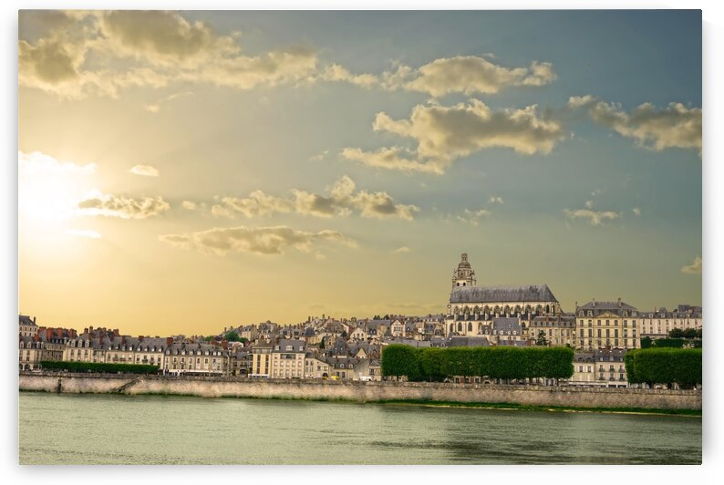 Blois and Cathedrale Saint Louis Across the Loire by 360 Studios