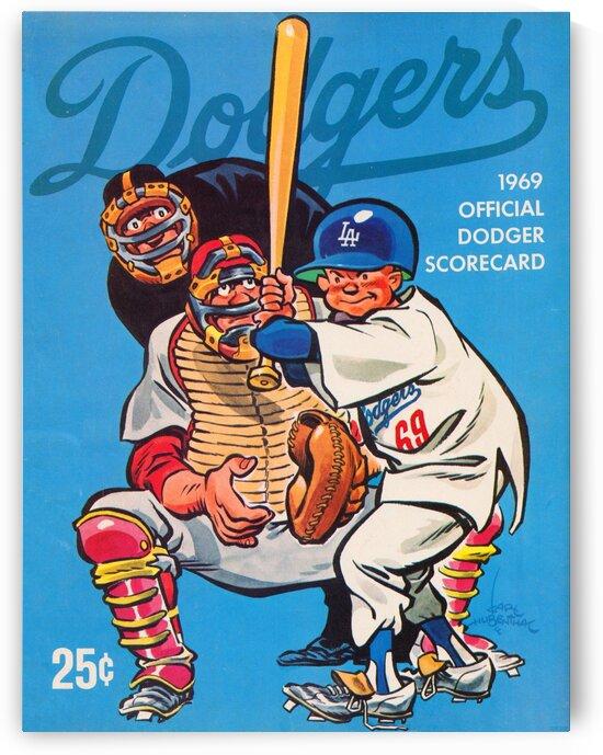 1969 LA Dodgers Scorecard Art by Row One Brand