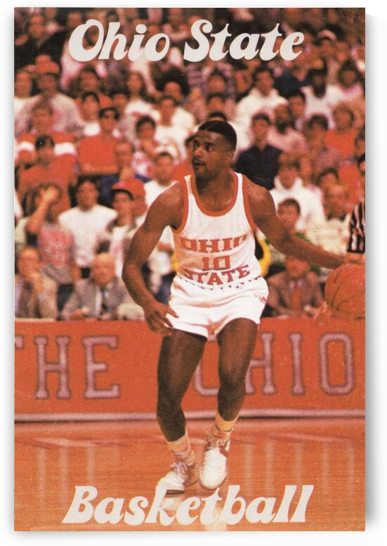 1987 Ohio State Basketball Poster by Row One Brand