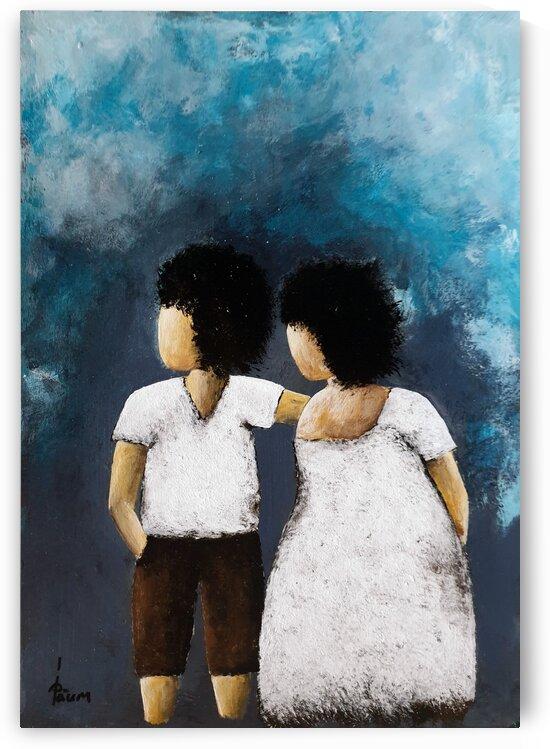 Boy and girl by Iulia Paun ART Gallery