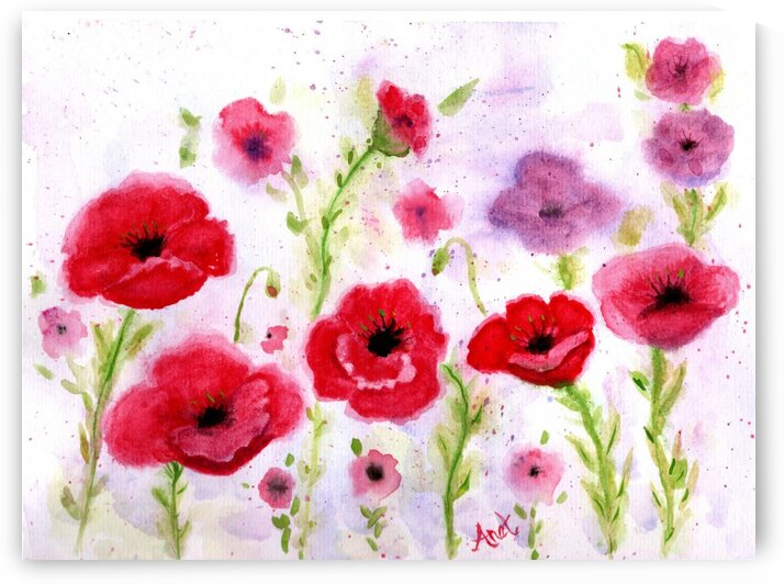Wimsical Poppies by Anet