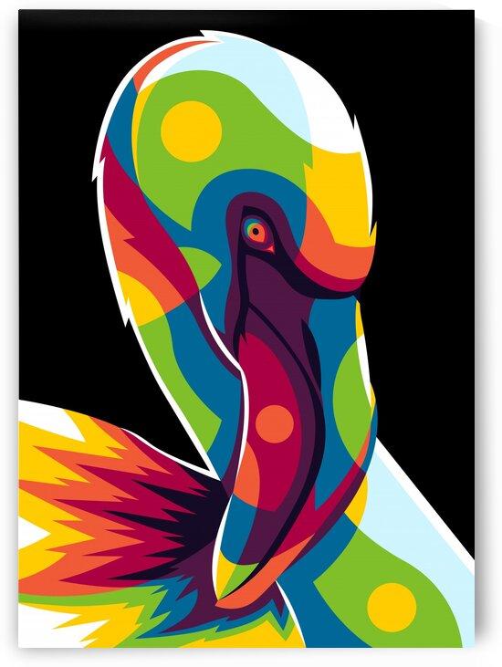 Flamingo Portrait by wpaprint