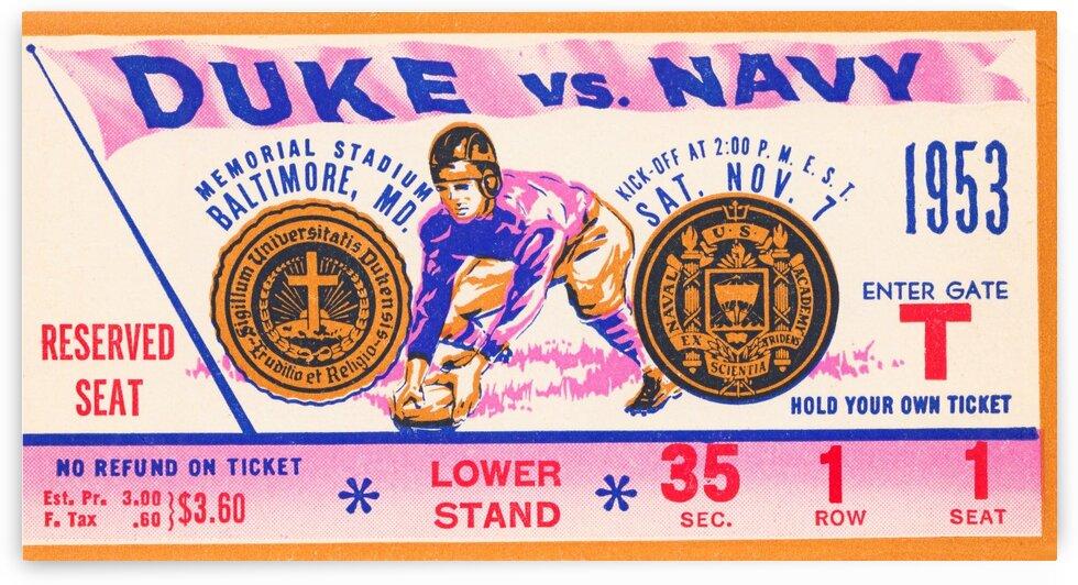 1953 Duke vs. Navy by Row One Brand
