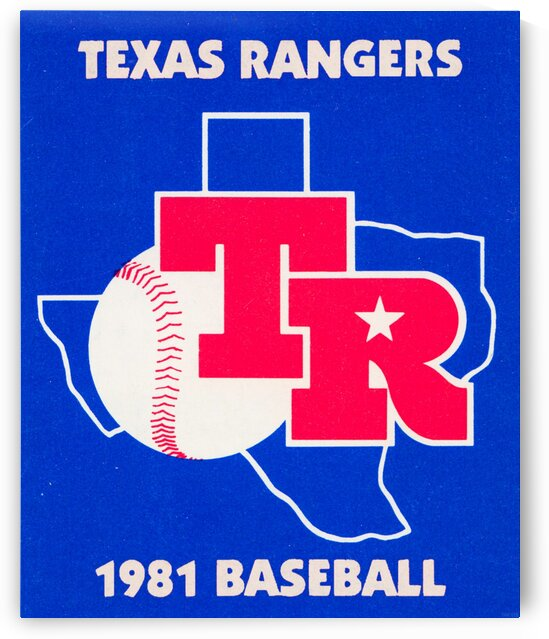 1981 Texas Rangers Art Poster by Row One Brand