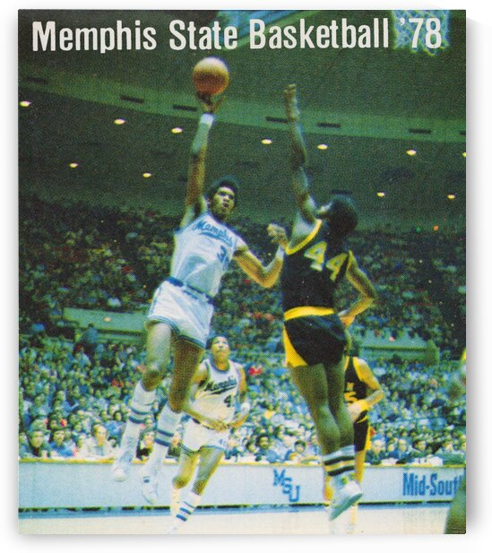 1978 memphis state basketball poster by Row One Brand
