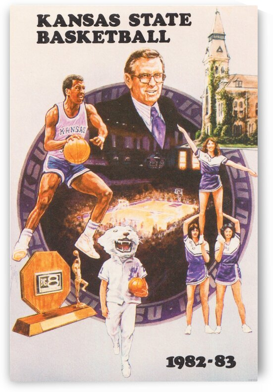 1982 Kansas State Basketball Poster by Row One Brand