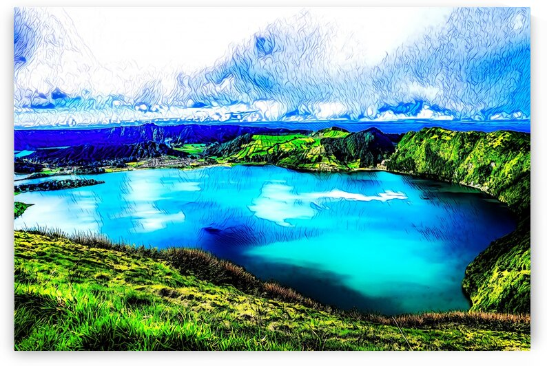 LAKE - Abstract - San Miguel Azores Portugal by Robert David Concienne