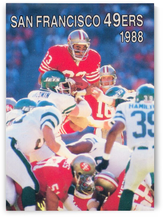 1988 San Francisco 49ers Roger Craig Art by Row One Brand