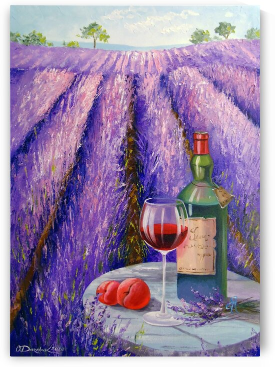 Lavender wine and fruit  by Olha Darchuk