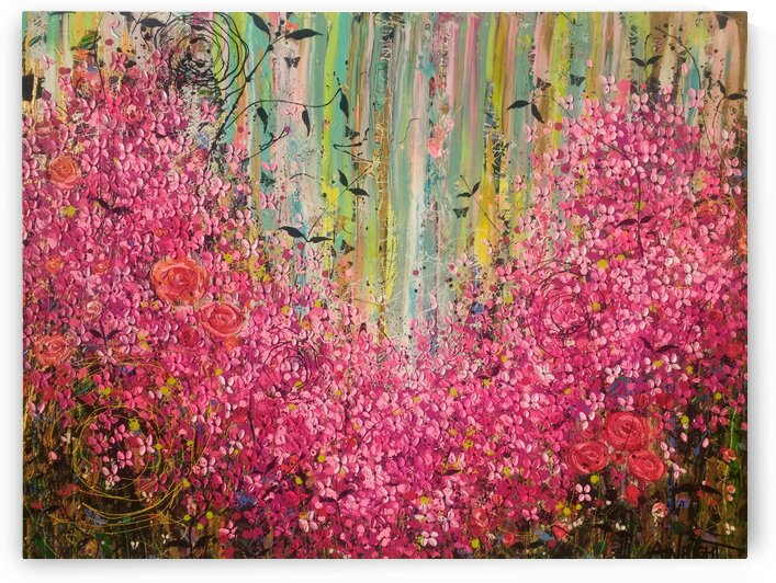 Floral Cascade  by Angie Wright Art