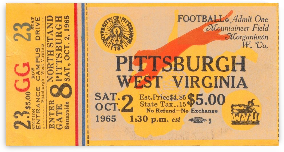 1965 Pittsburgh vs. West Virginia by Row One Brand
