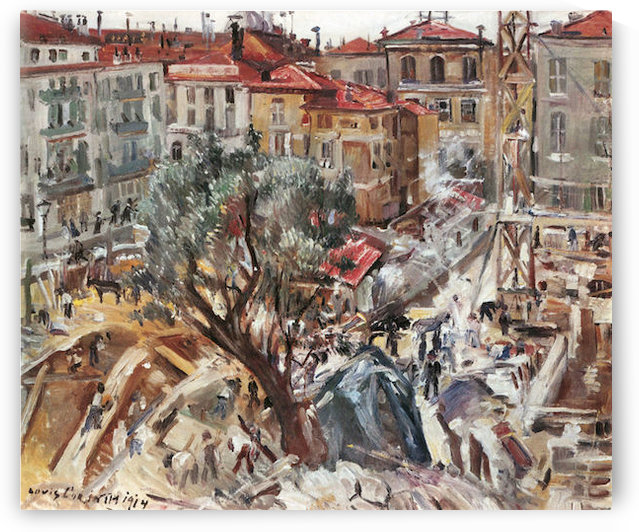 New building in Monte Carlo by Lovis Corinth by Lovis Corinth
