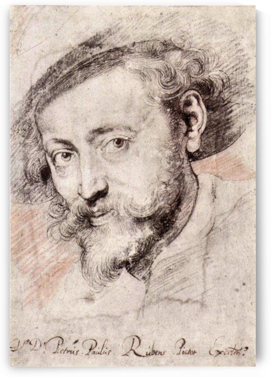 Self Portrait by Rubens by Rubens