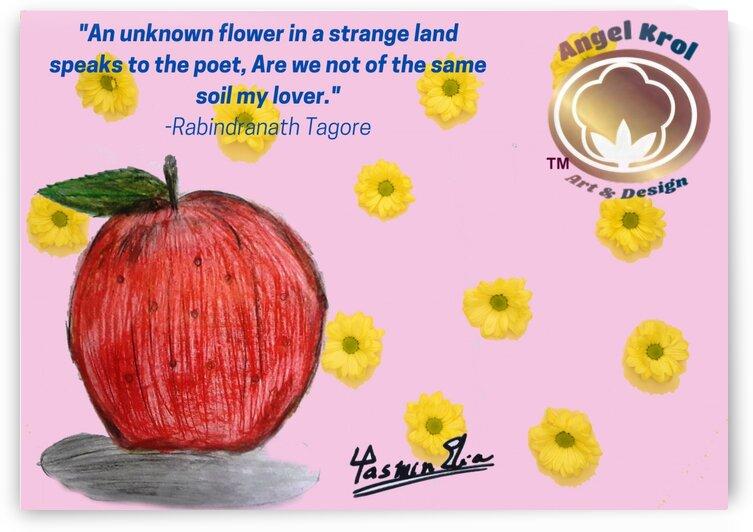 Apple red and pencil sketch Quotes by Yasmin MUhammad Elias
