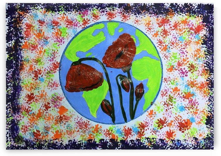 poppyflowersEarth by Yasmin MUhammad Elias