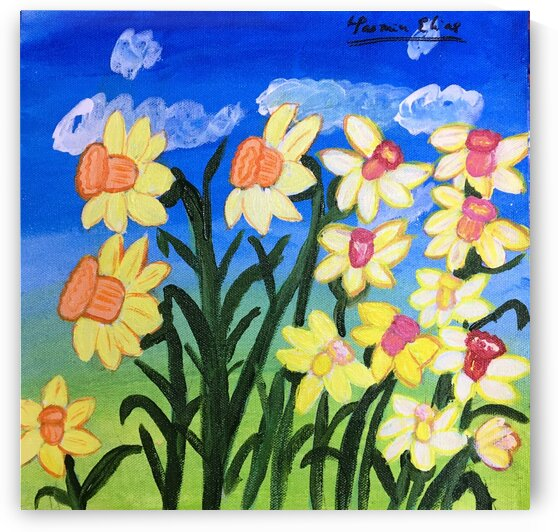 Daffodilspainting2 by Yasmin MUhammad Elias