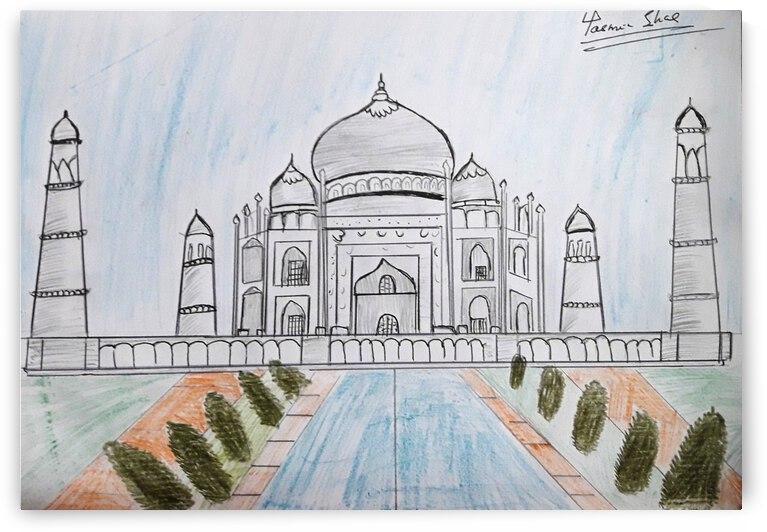 TajMahalPencilSketch by Yasmin MUhammad Elias