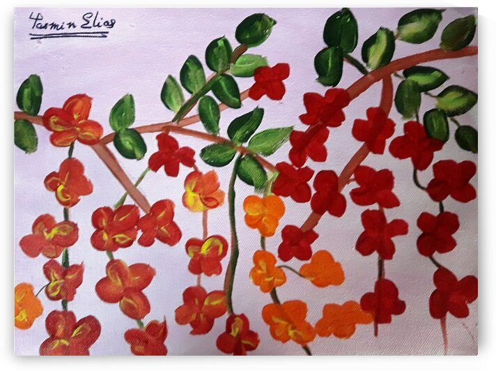 Floral painting by Yasmin MUhammad Elias
