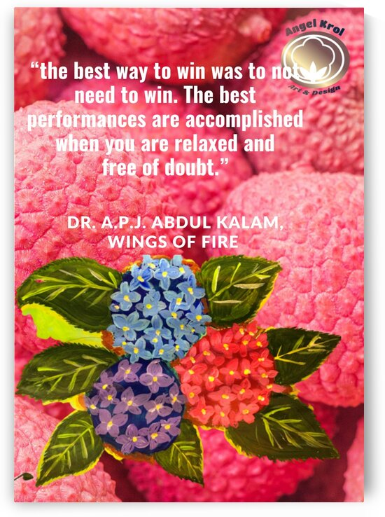 AKalamQuote HydrangePaint by Yasmin MUhammad Elias