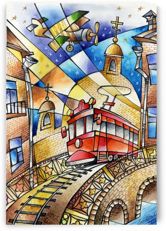 Red Tram by Andrey Saratov