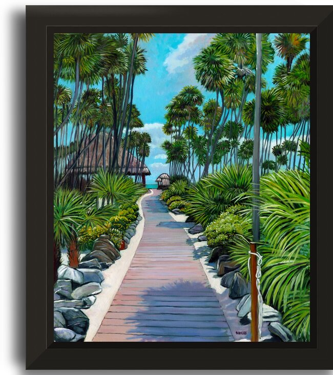 Boardwalk To Beach  The Valentin Resort by Rick Bayers