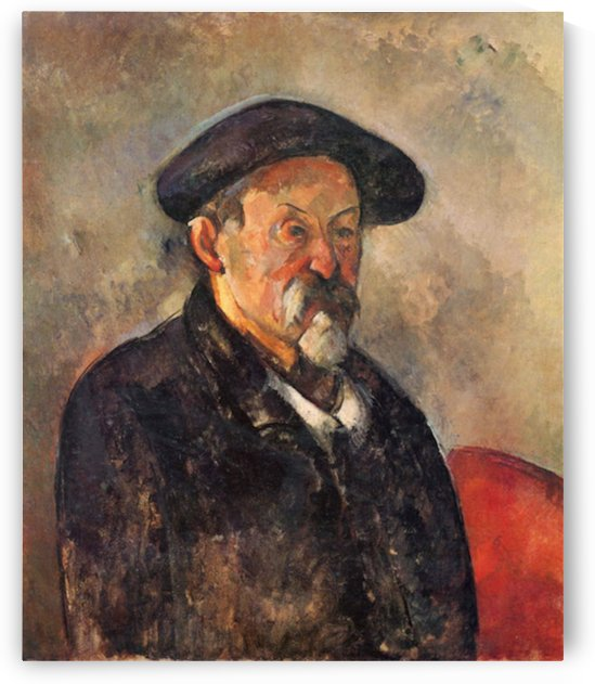 Self Portrait with Beret by Cezanne by Cezanne