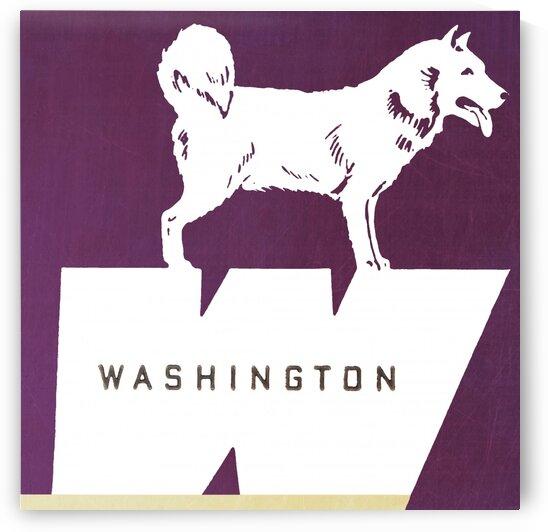 1952 Washington Husky Art by Row One Brand