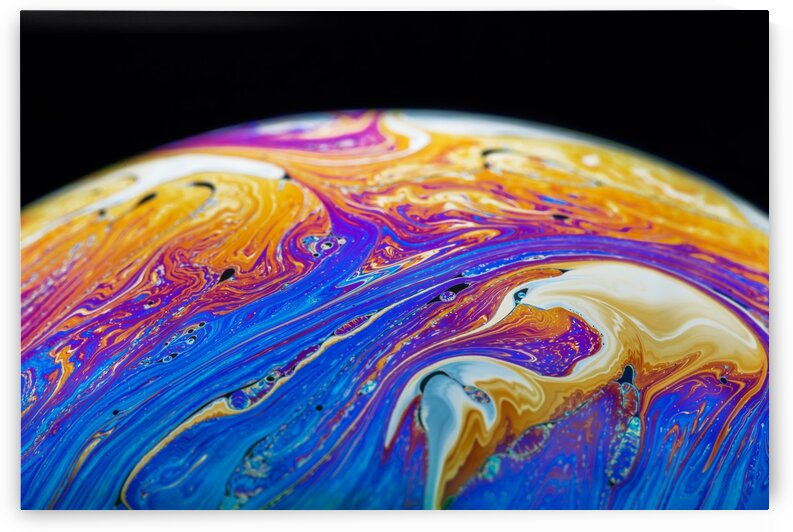 Soap Bubble Close Up by Philippe Monthoux