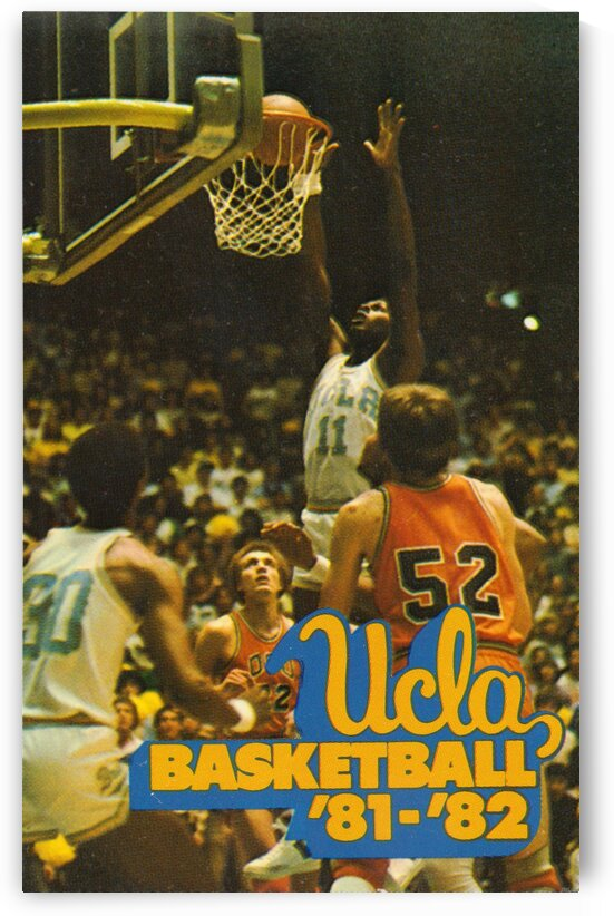 Retro College Basketball Posters 1981 UCLA by Row One Brand