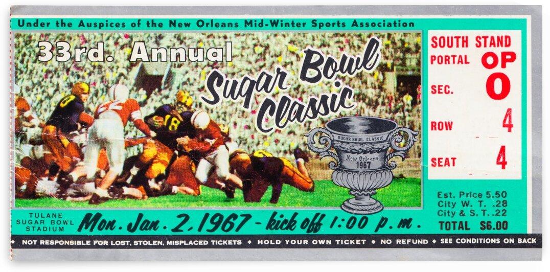 1967 Sugar Bowl Alabama Win by Row One Brand