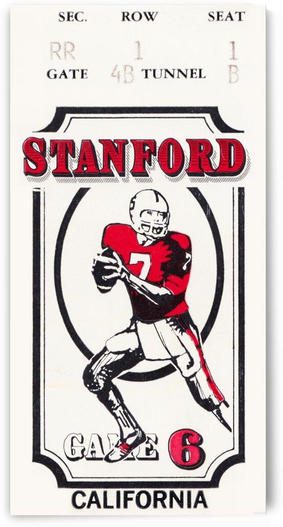 1981 California vs. Stanford Football Ticket Print by Row One Brand