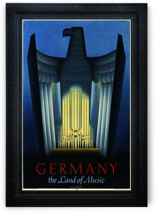 Germany The Land of Music by L Heinemann Art Deco Illustration by xzendor7