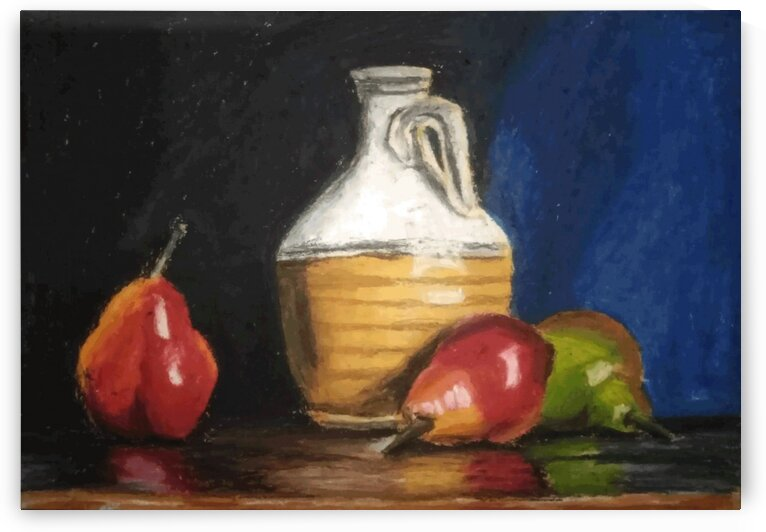 water with fruit  by Bedo Art
