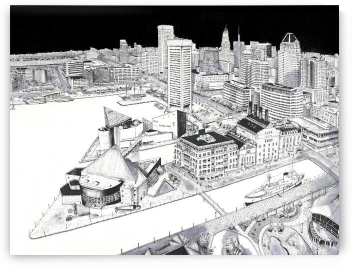 Bmore City  by Francisco Gonzalez Art