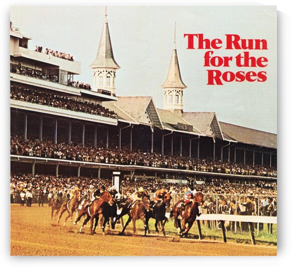 1970 Vintage Kentucky Derby Poster by Row One Brand